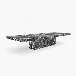 CONFERENCE ´TABLE – FS 416 Grand Antique Marble, White-Black | Tavoli contract | RECHTECK FELIX SCHWAKE