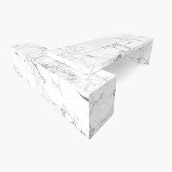 DESK – FS 419-1  Arabescato Marble, White | Desks | RECHTECK FELIX SCHWAKE