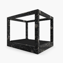 CANOPY BED – FS 421 Portoro Gold Marble, Black-Gold | Beds | RECHTECK FELIX SCHWAKE