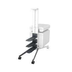 "add-on set for ""Workplace"" office caddy MI200, to convert the caddy to a two-sided mobile pedestal 