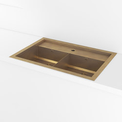 SINKS   TOP-MOUNTED RECTANGULAR SINK WITH STEP AND DIVIDER   Kitchen sinks   Officine Gullo