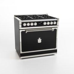 COOKING RANGES | FIORENTINA 90 6 BURNERS AND GAS OVEN WITH SOLID DOOR | Ovens | Officine Gullo