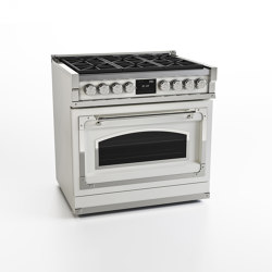 COOKING RANGES | FIORENTINA 90 6 BURNERS AND GAS OVEN WITH GLASS DOOR | Ovens | Officine Gullo
