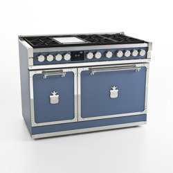 COOKING RANGES | FIORENTINA 120 6 BURNERS, FRYTOP AND MULTIFUCTION OVEN WITH GLASS DOOR | Ovens | Officine Gullo