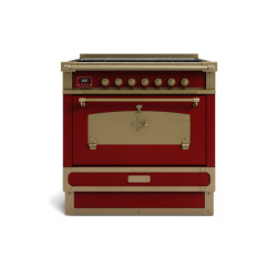 COOKING RANGES | RESTART 90 COOKING RANGE WITH 5 BURNERS AND ELECTRIC MULTIFUNCTION OVEN WITH BRASS DOOR | Ovens | Officine Gullo