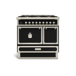COOKING RANGES | RESTART 90 INDUCTION COOKING RANGE 2 ELECTRIC OVENS WITH SOLID DOOR | Ovens | Officine Gullo