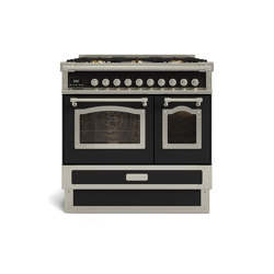 COOKING RANGES | RESTART 90 INDUCTION COOKING RANGE AND 2 ELECTRIC OVENS WITH GLASS DOOR | Ovens | Officine Gullo