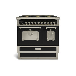 COOKING RANGES | RESTART 90 INDUCTION COOKING RANGE AND 2 ELECTRIC OVENS WITH BRASS DOOR | Ovens | Officine Gullo