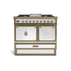 COOKING RANGES | RESTART 100 COOKING RANGE WITH 4 BURNERS + FRYTOP AND ELECTRIC MULTIFUCTION OVEN WITH SOLID DOOR | Ovens | Officine Gullo