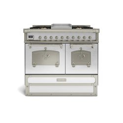 COOKING RANGES | RESTART 100 COOKING RANGE WITH 5 BURNERS AND ELECTRIC MULTIFUCTION OVEN WITH BRASS DOOR | Ovens | Officine Gullo