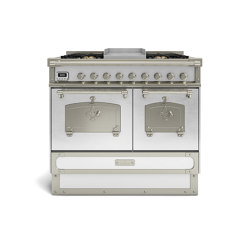 COOKING RANGES | RESTART 100 COOKING RANGE WITH 6 BURNERS AND ELECTRIC MULTIFUCTION OVEN WITH BRASS DOOR | Ovens | Officine Gullo