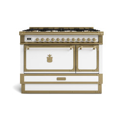 COOKING RANGES | RESTART 100 COOKING RANGE WITH 8 BURNERS AND ELECTRIC MULTIFUCTION OVEN WITH SOLID DOOR | Ovens | Officine Gullo