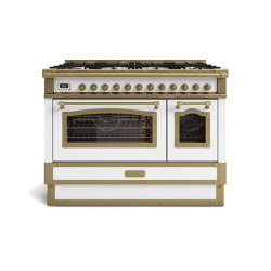 COOKING RANGES | RESTART 100 COOKING RANGE WITH 8 BURNERS AND ELECTRIC MULTIFUCTION OVEN WITH GLASS DOOR | Ovens | Officine Gullo