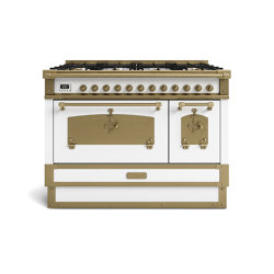 COOKING RANGES | RESTART 100 COOKING RANGE WITH 8 BURNERS AND ELECTRIC MULTIFUCTION OVEN WITH BRASS DOOR | Ovens | Officine Gullo