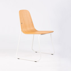 Siren chair S01 Sled frame oak | Chairs | Bogaerts Label