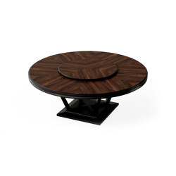 Relief | Dining table - Black Walnut round | Tables de repas | ITALIANELEMENTS