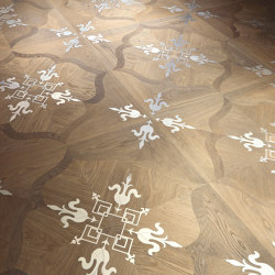 Design Panels | Fenice Ca' Polo with steel inserts | Wood flooring | Foglie d'Oro