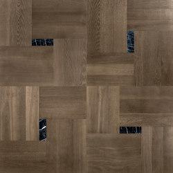 Design Panels | Segreti Ca' Corner with marble inserts | Wood flooring | Foglie d'Oro