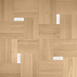 Design Panels | Segreti Ca' Donà with marble insert | Wood flooring | Foglie d'Oro