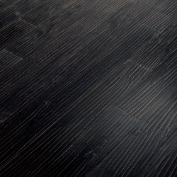 Engineered wood planks floor | Onda Nero | Wood flooring | Foglie d'Oro
