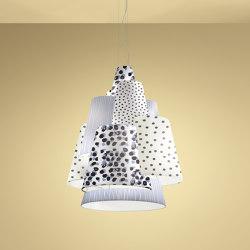 Melting Pot SP 120 new light dark patterns with white inside   Suspended lights   Axolight