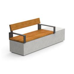 Log 210 Backrest Armrests | Sitzbänke | Durbanis