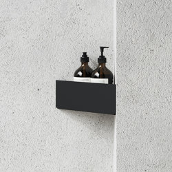 Bath Shelf Corner Black | Bath shelves | Nichba Design