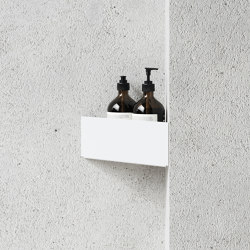 Bath Shelf Corner White | Bath shelves | Nichba Design