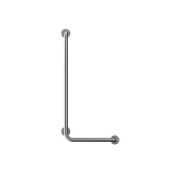 Stainless steel L shaped Ø32mm grab rail, 3 point fixation | Grab rails | Duten
