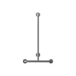 Stainless steel T shaped Ø32mm grab rail, 4 point fixation | Grab rails | Duten