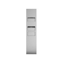 Combination unit with hand towel dispenser, hot air dryer and 25L waste bin | Bath waste bins | Duten