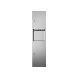 Combination unit with paper hand towel dispenser and 20L bin | Bath waste bins | Duten