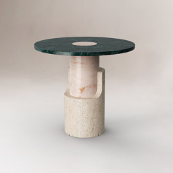 Braque Travertine side table | Tables d'appoint | Dooq