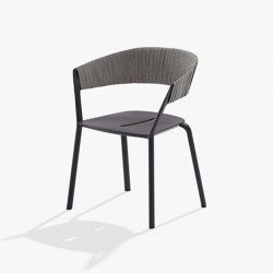 Ria dining armchair with partially woven rope | Chairs | Fast