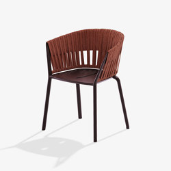 Ria dining armchair with fully woven rope | Chairs | Fast