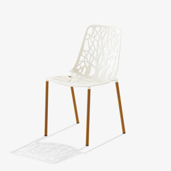 Forest chair with legs covered in Iroko | Chairs | Fast