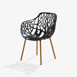 Forest dining armchair with legs covered in Iroko | Stühle | Fast
