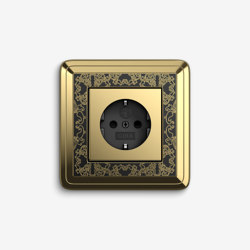 ClassiX   Socket outlet Art Brass black   Prese Schuko   Gira