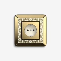 ClassiX | Socket outlet Art Brass cream white | Schuko sockets | Gira