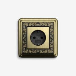 ClassiX | Socket outlet Art Bronze black | Schuko sockets | Gira
