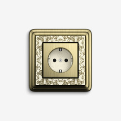 ClassiX | Socket outlet Art Bronze cream white | Schuko sockets | Gira