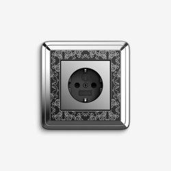 ClassiX | Socket outlet Art Chrome black | Schuko sockets | Gira