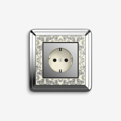 ClassiX | Socket outlet Art Chrome cream white | Schuko sockets | Gira