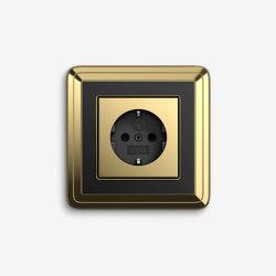 ClassiX | Socket outlet Brass black | Schuko sockets | Gira