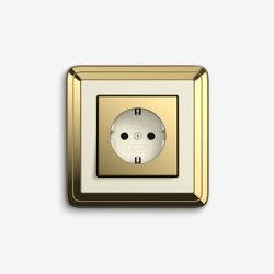 ClassiX | Socket outlet Brass cream white | Schuko sockets | Gira