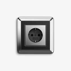 ClassiX | Socket outlet Chrome black | Schuko sockets | Gira