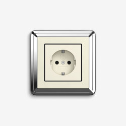 ClassiX | Socket outlet Chrome cream white | Schuko sockets | Gira