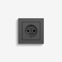 E2 | Socket outlet Anthracite | Schuko sockets | Gira