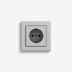 E2 | Socket outlet Grey matt | Schuko sockets | Gira