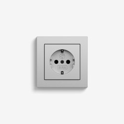 E2 | Socket outlet Colour aluminium | Schuko sockets | Gira